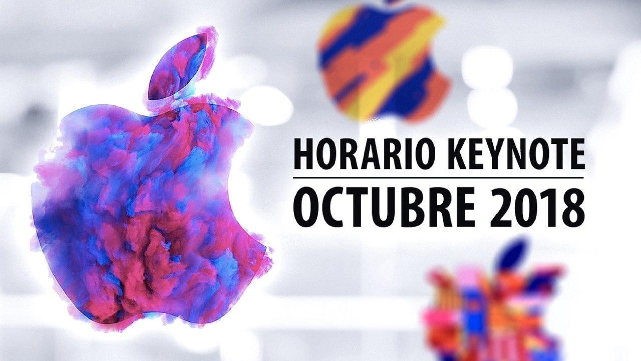 horario Keynote octubre 2018