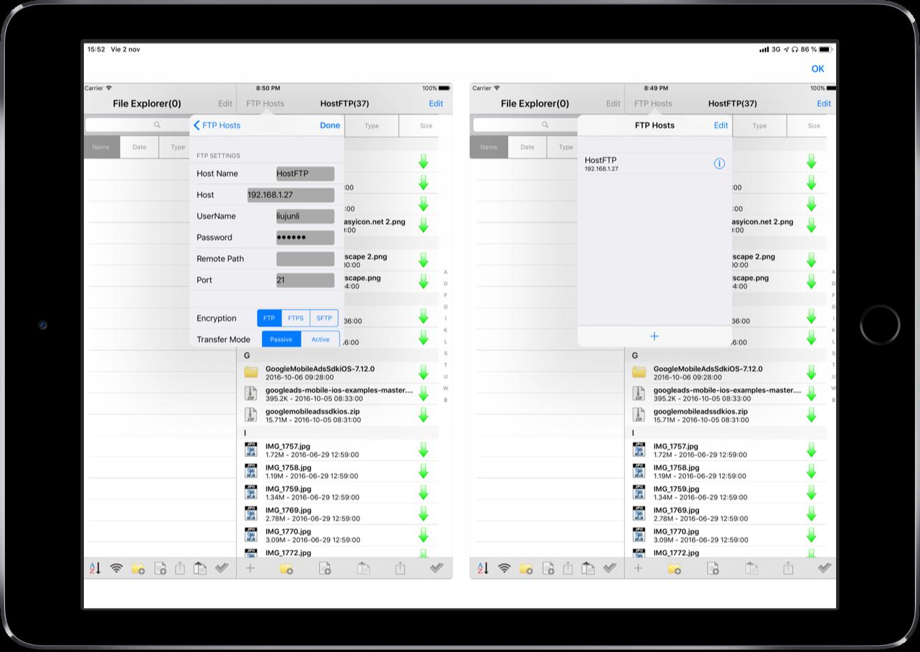 iPad Genio FTP