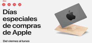 El Black Friday 2018 llega a la Apple Store con tarjetas regalo de hasta 200€
