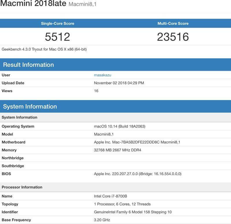 Test Mac mini