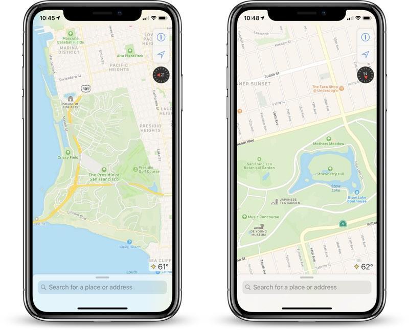Apple Maps en iPhone