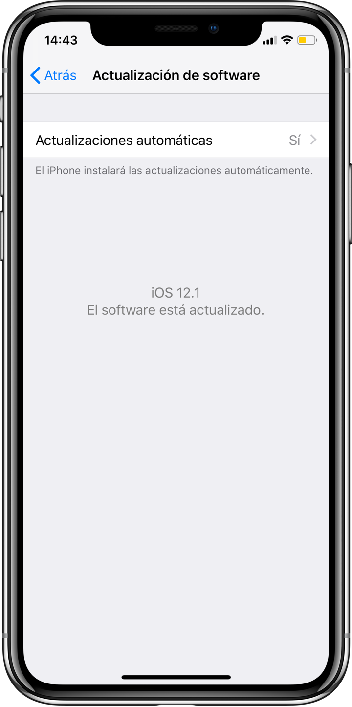 iPhone X ahorro bateria iOS 12