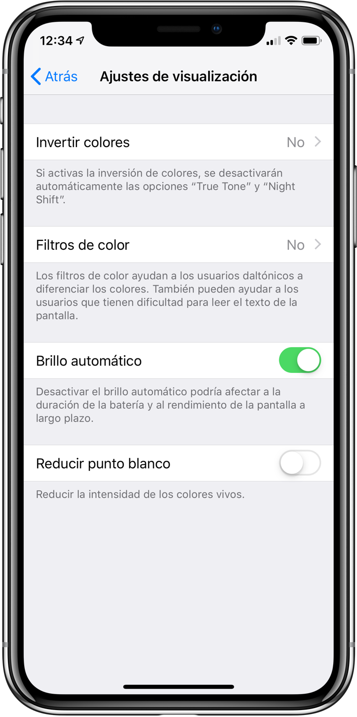 iPhone X ahorro de bateria