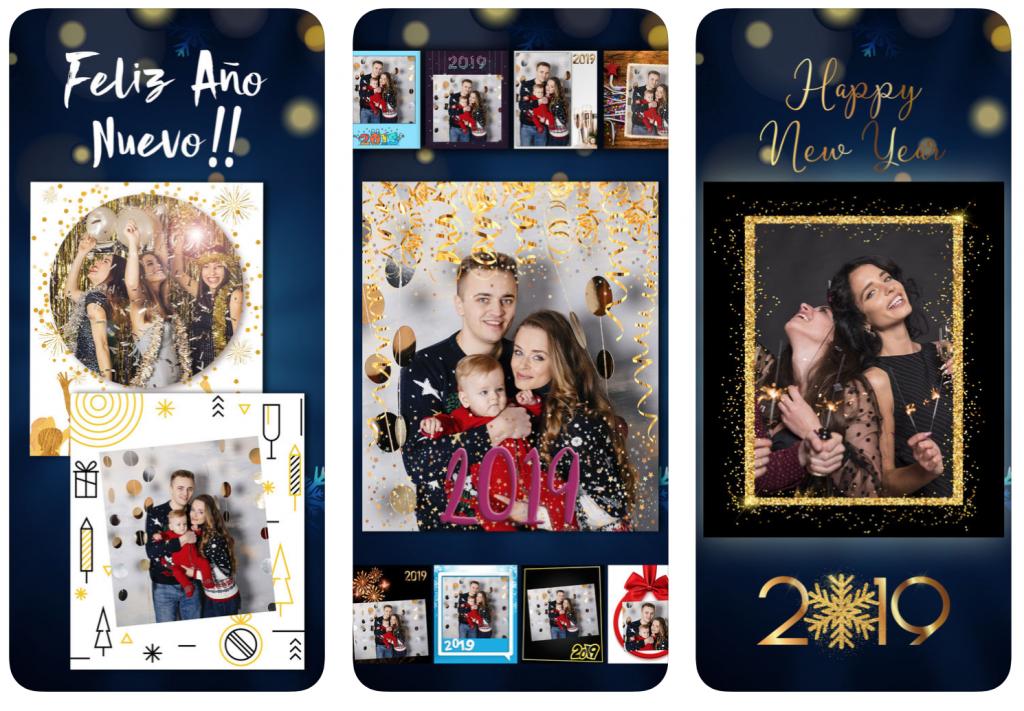 apps para felicitar el año Marcos de Feliz Año Nuevo