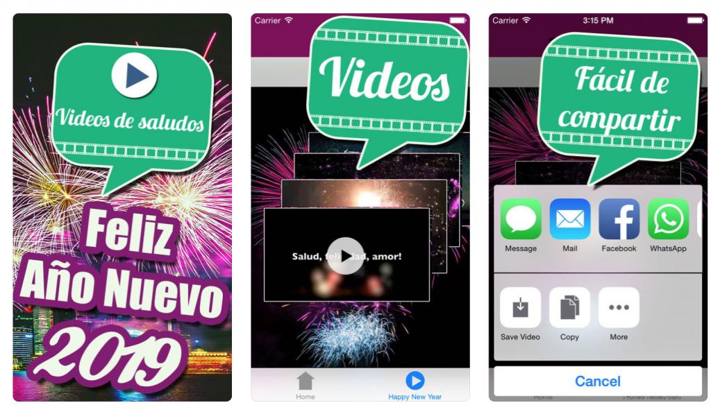 apps para felicitar el año Videos de saludos 2019