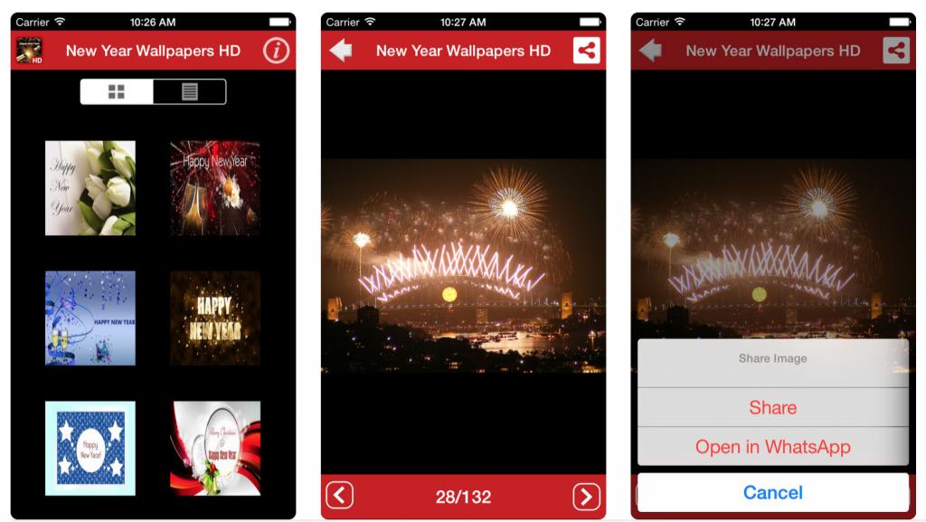 apps para felicitar el año Fondos de Año Nuevo 2018