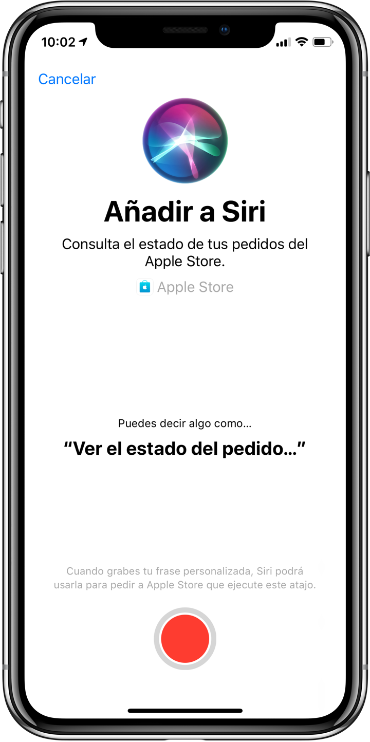 Atajo Siri Apple Store