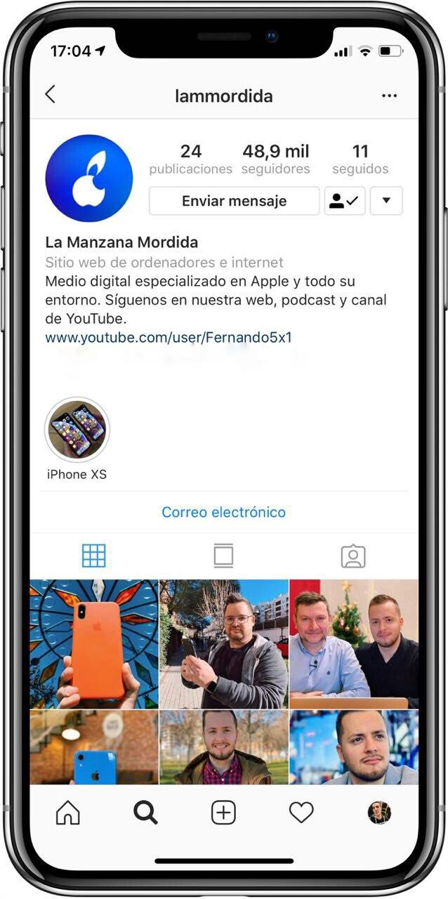 Instagram La Manzana Mordida