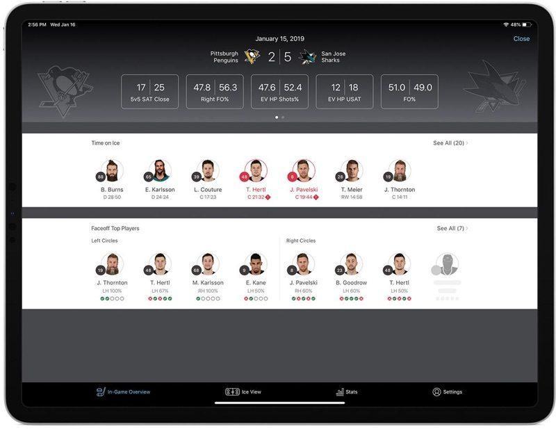 App de Apple para la NHL