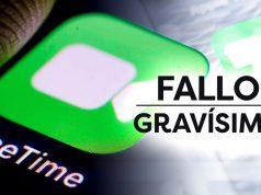 Grave fallo FaceTime