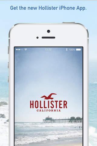 App de Hollister en iOS