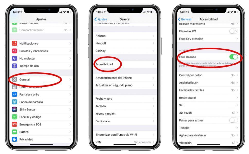 Como manejar a una mano el iPhone X XS XS Max XR