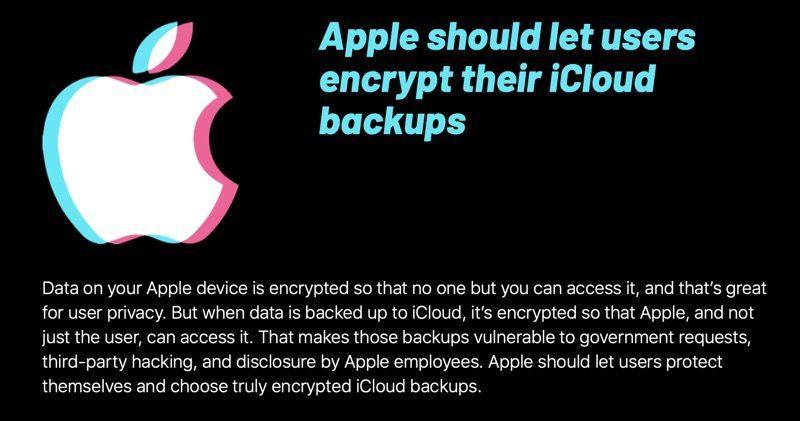 EFF exigencias a Apple