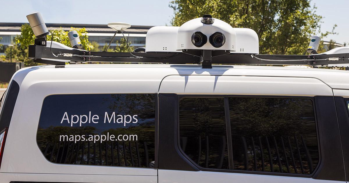 vehículos Apple Maps