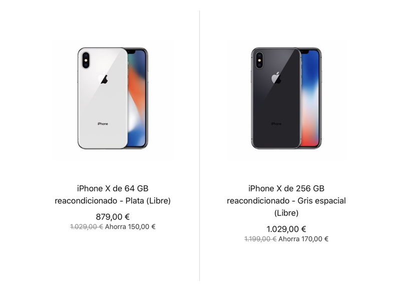 iPhone X reacondicionado