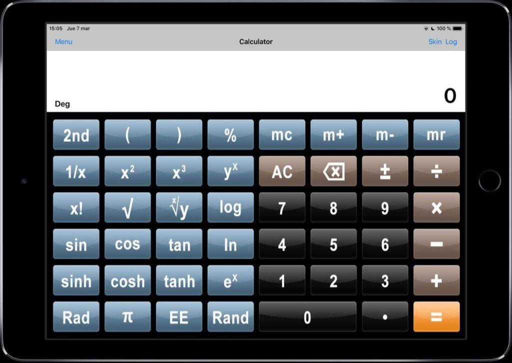 calculadora cientifica completa iPad