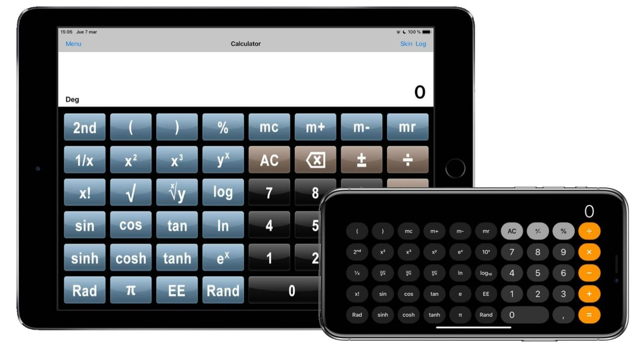 calculadora cientifica completa iphone ipad