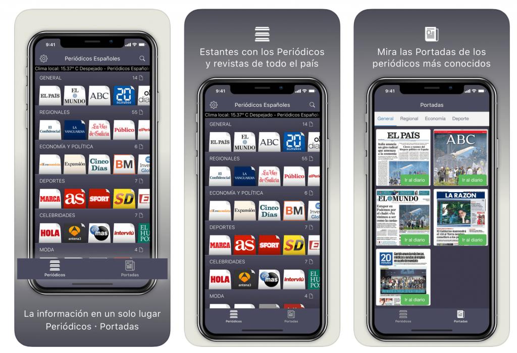 apps de noticias Periódicos Españoles