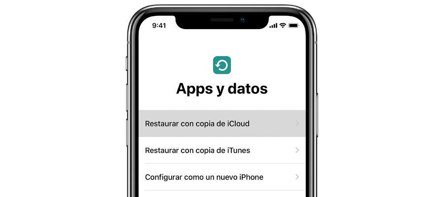 Restaurar copia iPhone