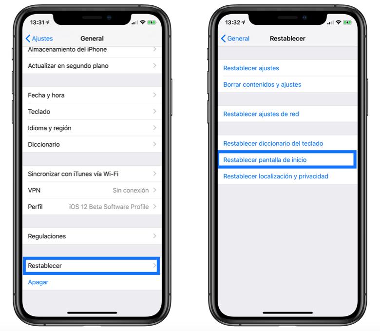ordenar alfabéticamente aplicaciones en iOS