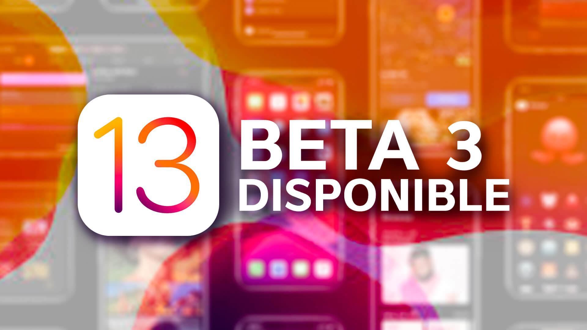 beta 3 iOS 13