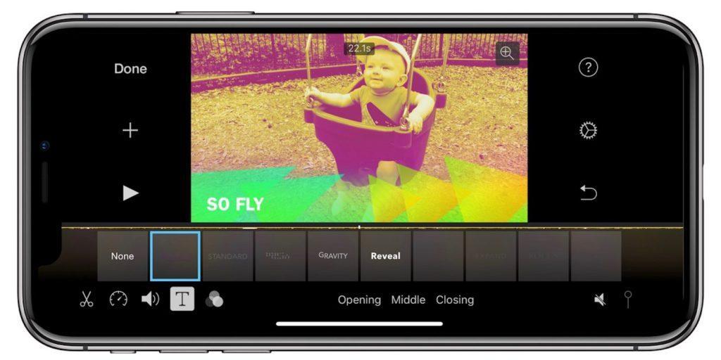 iMovie en iPhone