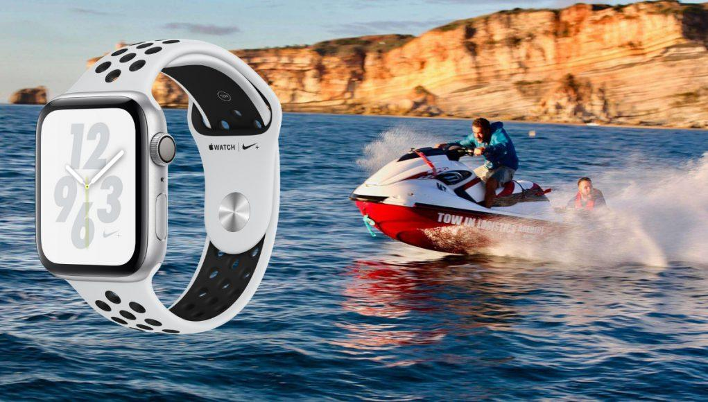 Apple Watch rescate jet ski
