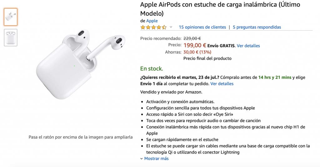 Oferta airpods 2