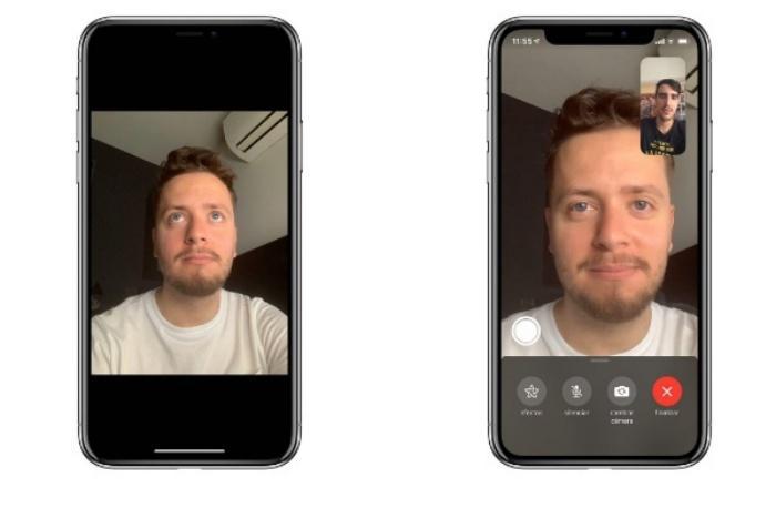 FaceTime corrección ojos iOS 13