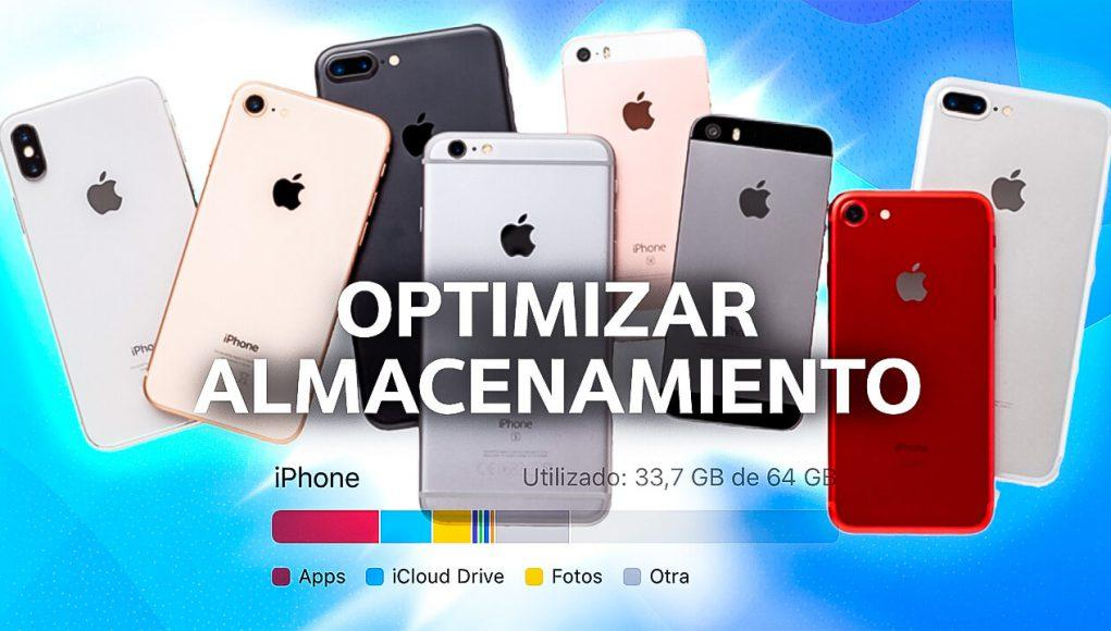 Optimizar almacenamiento iPhone