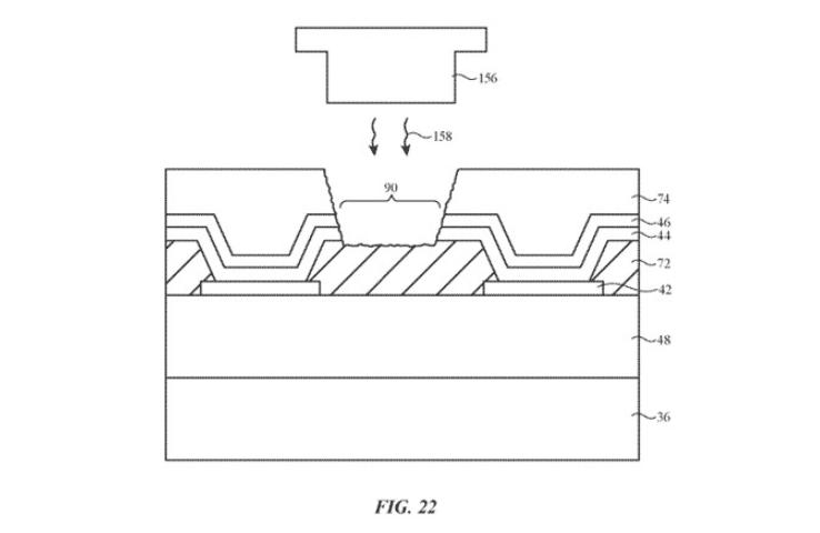 "width = 738 ""height ="" 480 ""srcset ="" https://lamanzanamordida.net/app/uploads/2019/08/apple-under-screen-sensor-patent.png ""https: ="" ""size ="" (max genişlik:"