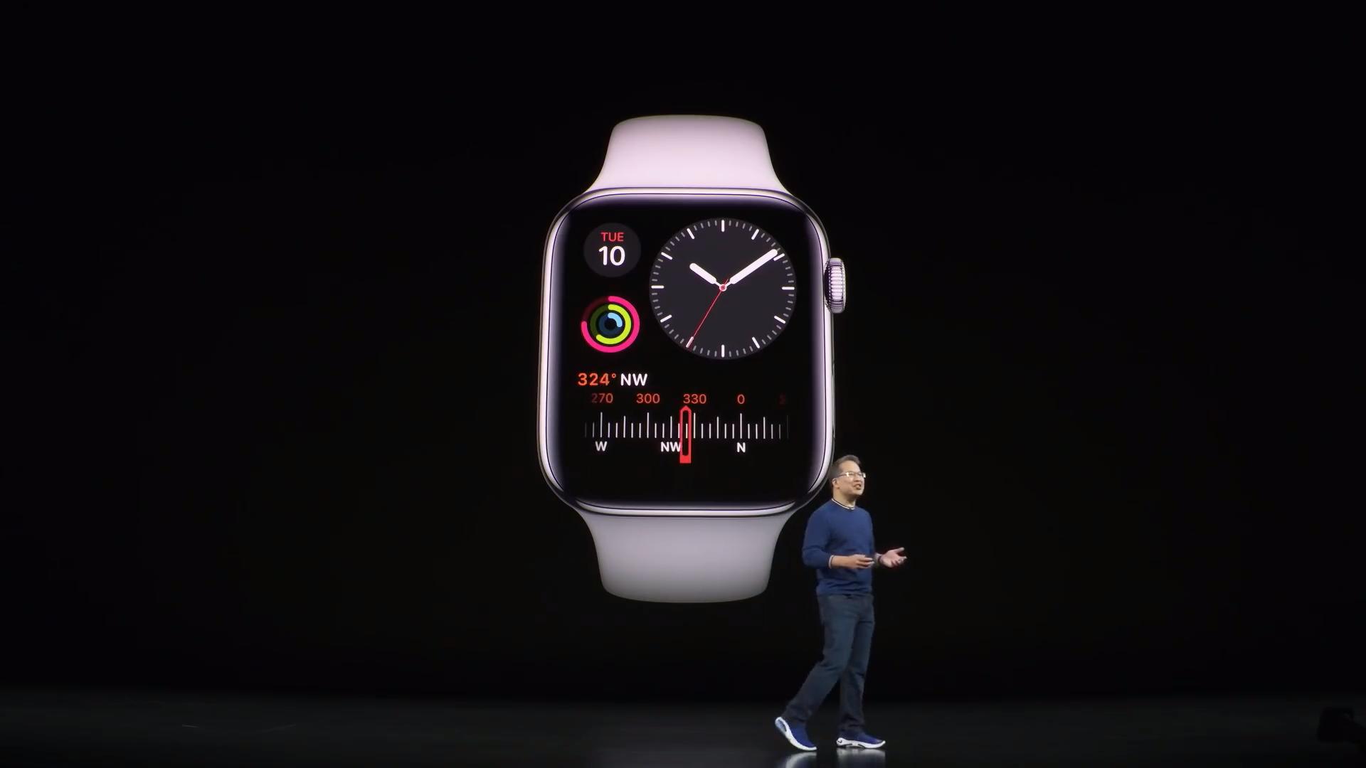 Ekranı kapatma her zaman açıktır Apple Watch 5 dizi 1