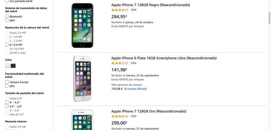 amazon comprar iphone segunda mano