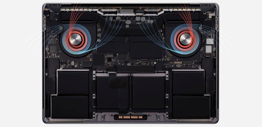 ventilacion macbook pro 16 2019