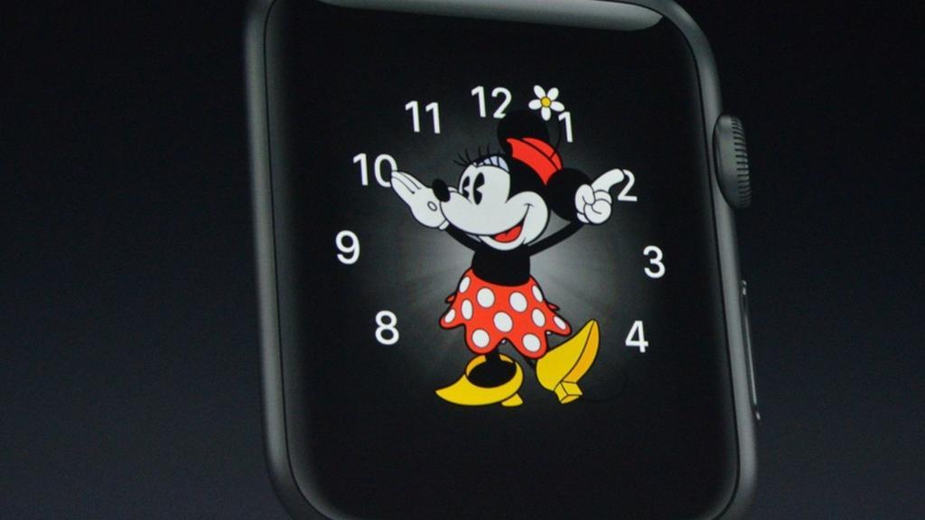 Mickey Minnie apple watch time voice