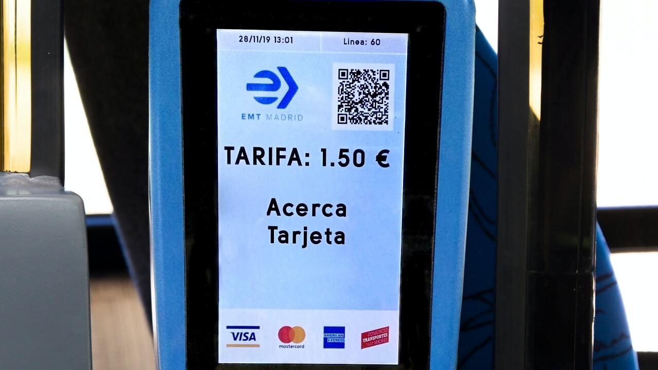 Pagar con Apple Pay autobuses Madrid