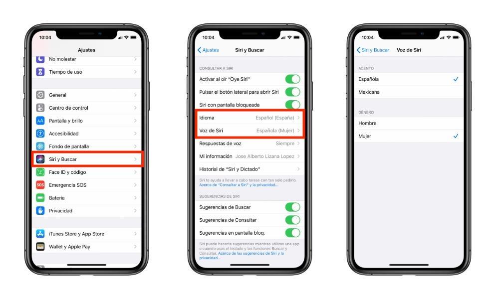 Personalizar Siri
