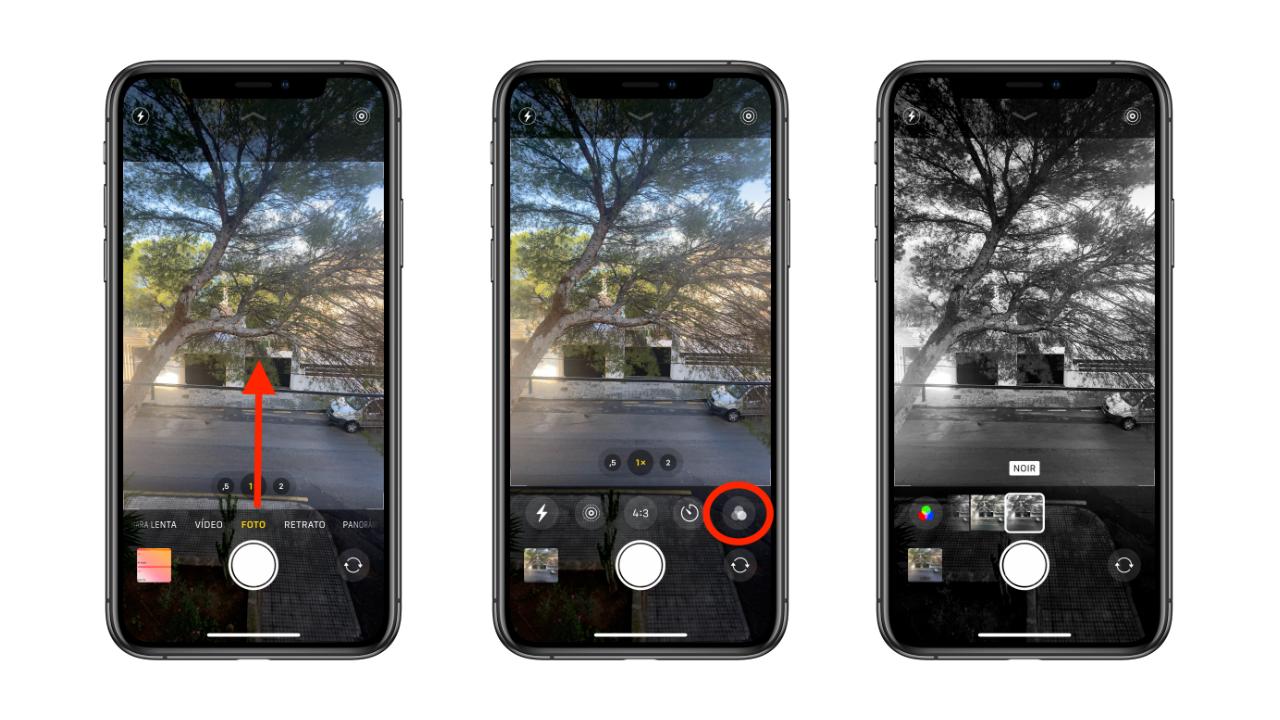 aplicar filtros iPhone 11 Pro