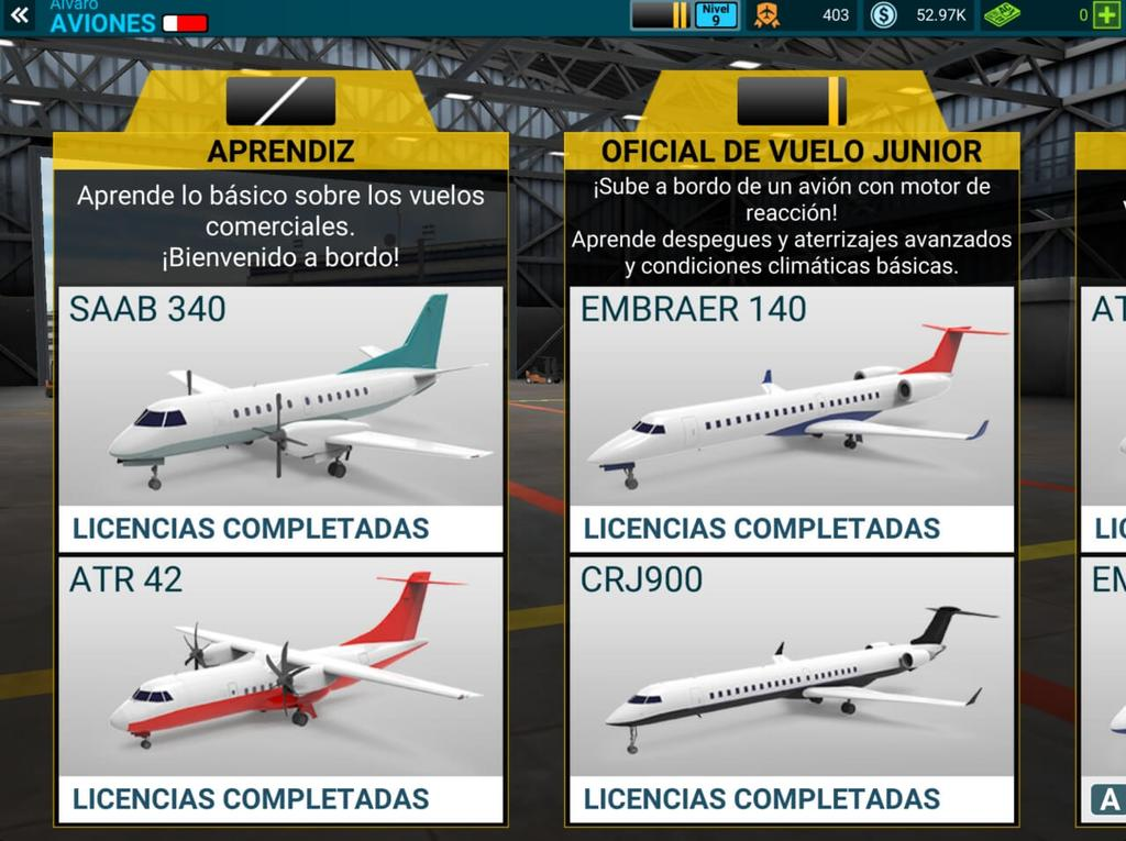 licencias aviones airline commander