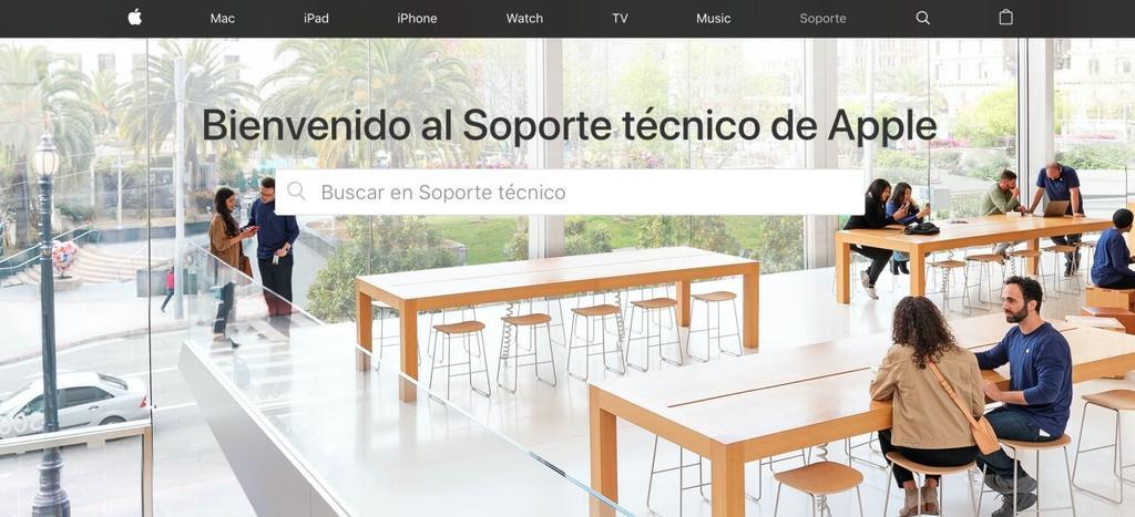 web soporte tecnico apple
