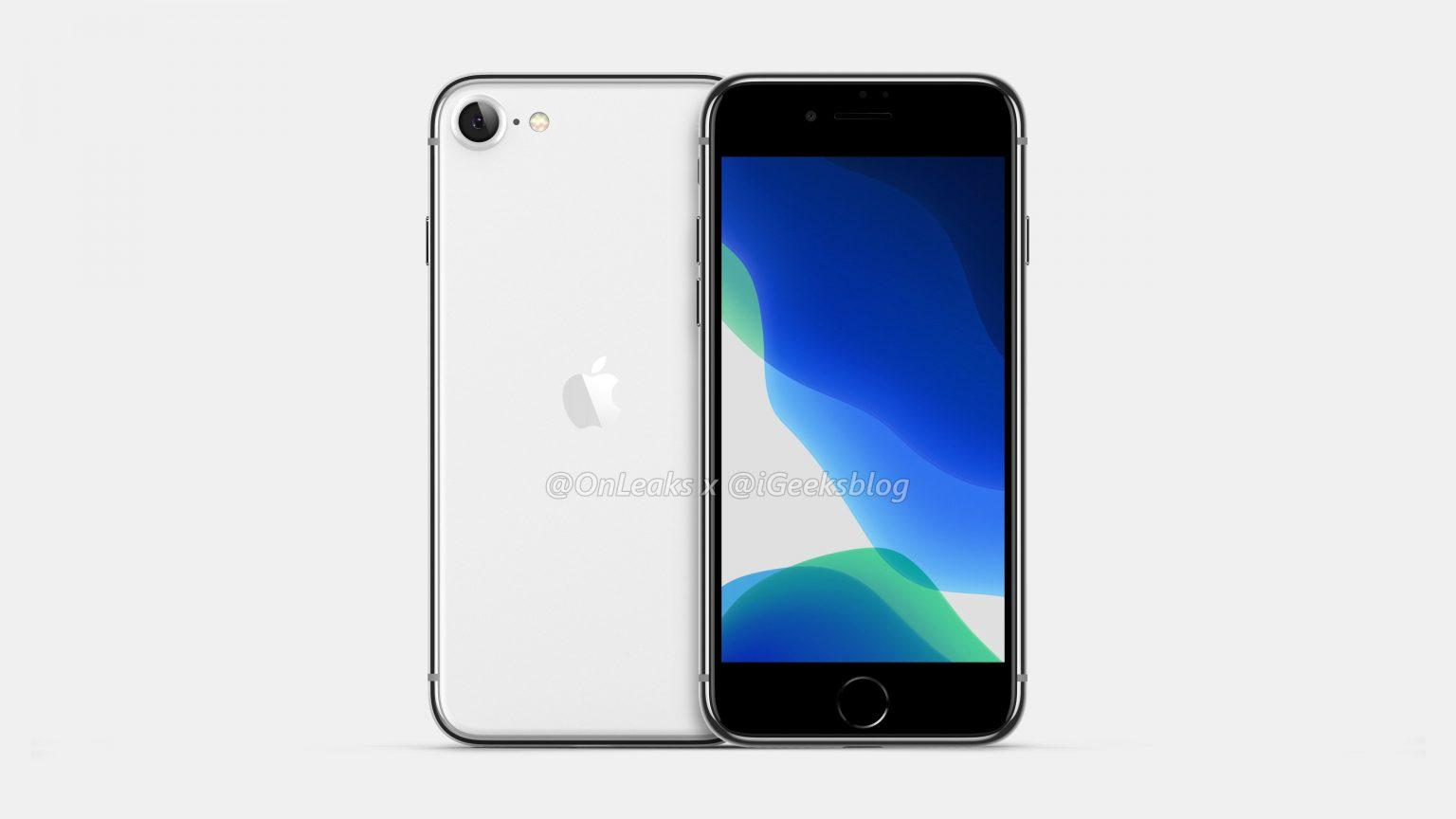 iPhone 9 iPhone SE 2 render