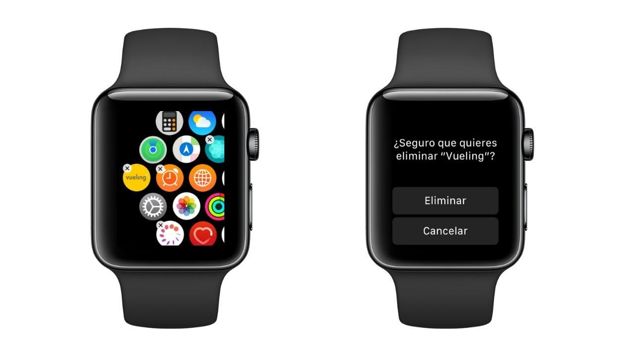 Desinstalar aplicaciones apple watch