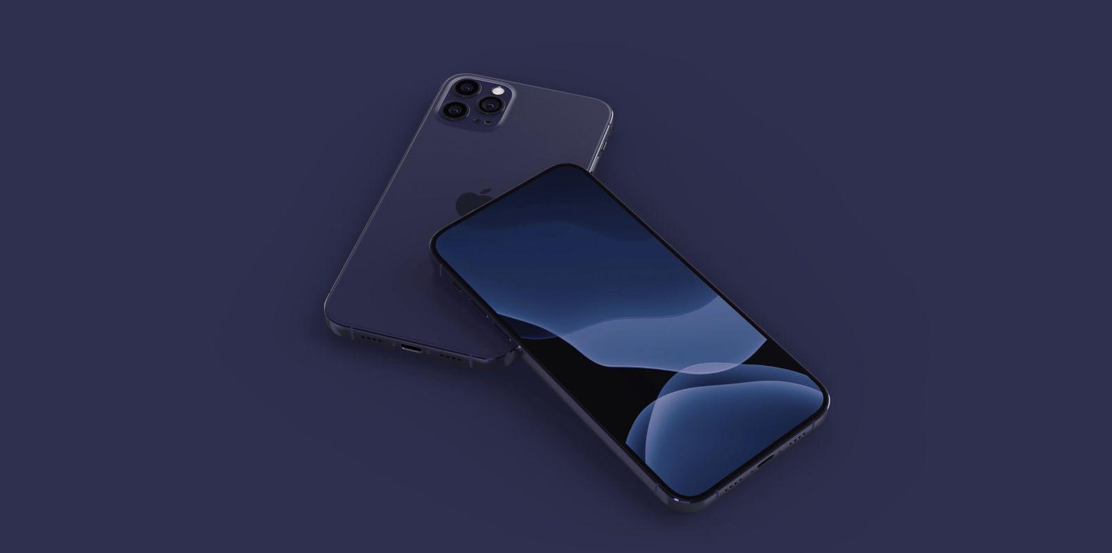 iPhone 12 azul marino render