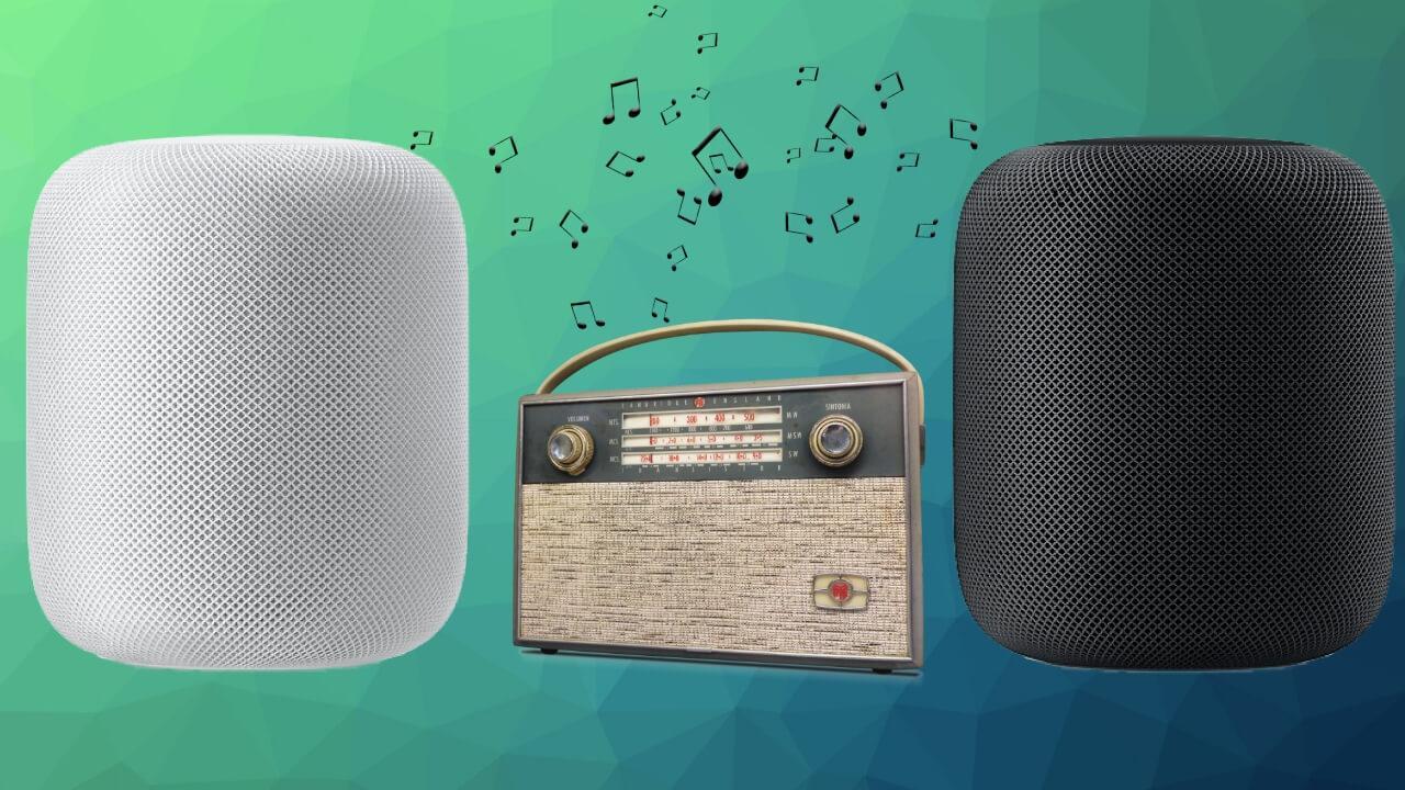 Escuchar radio homepod iphone apple