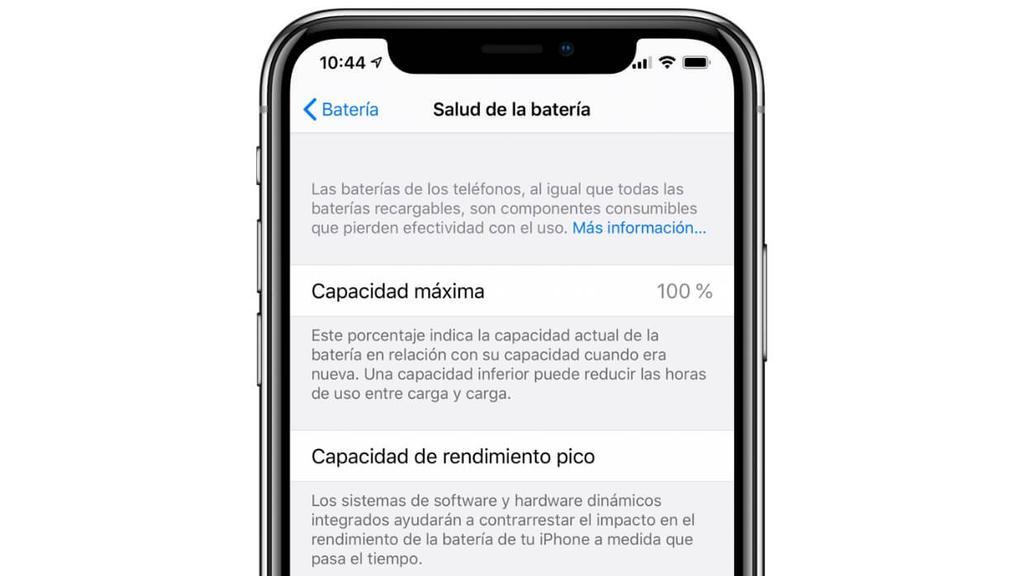 salud bateria iphone x