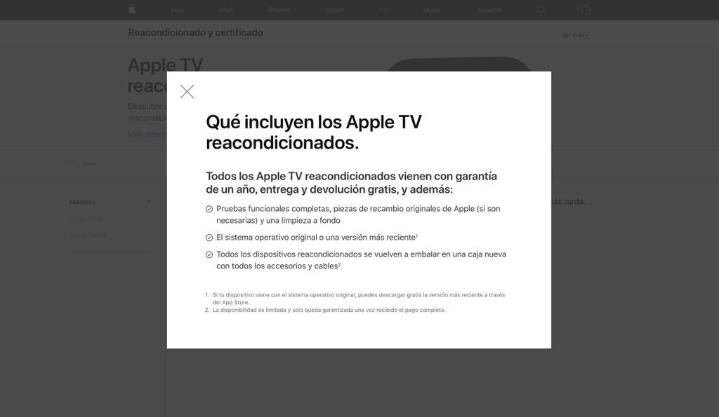 Apple TV reacondicionado