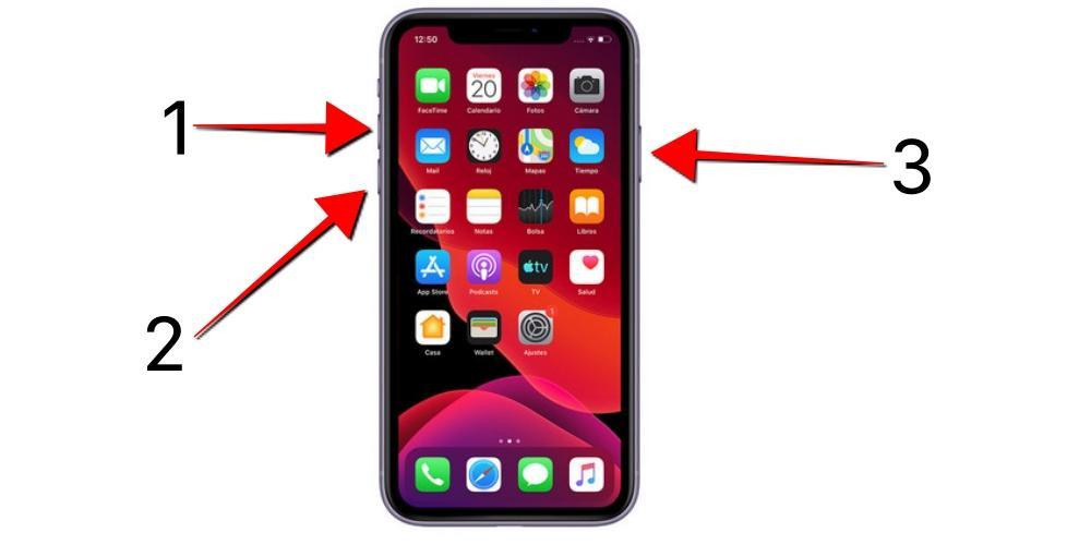 Turn off iPhone X 11