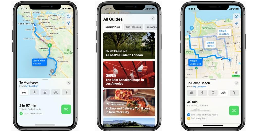 Apple Mapas iOS 14