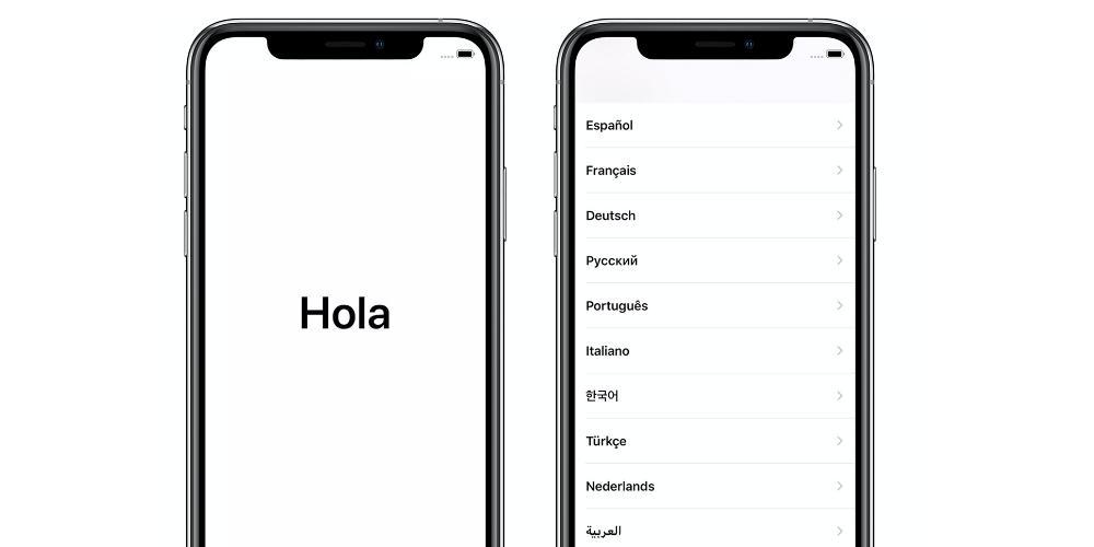 iPhone configuración inicial