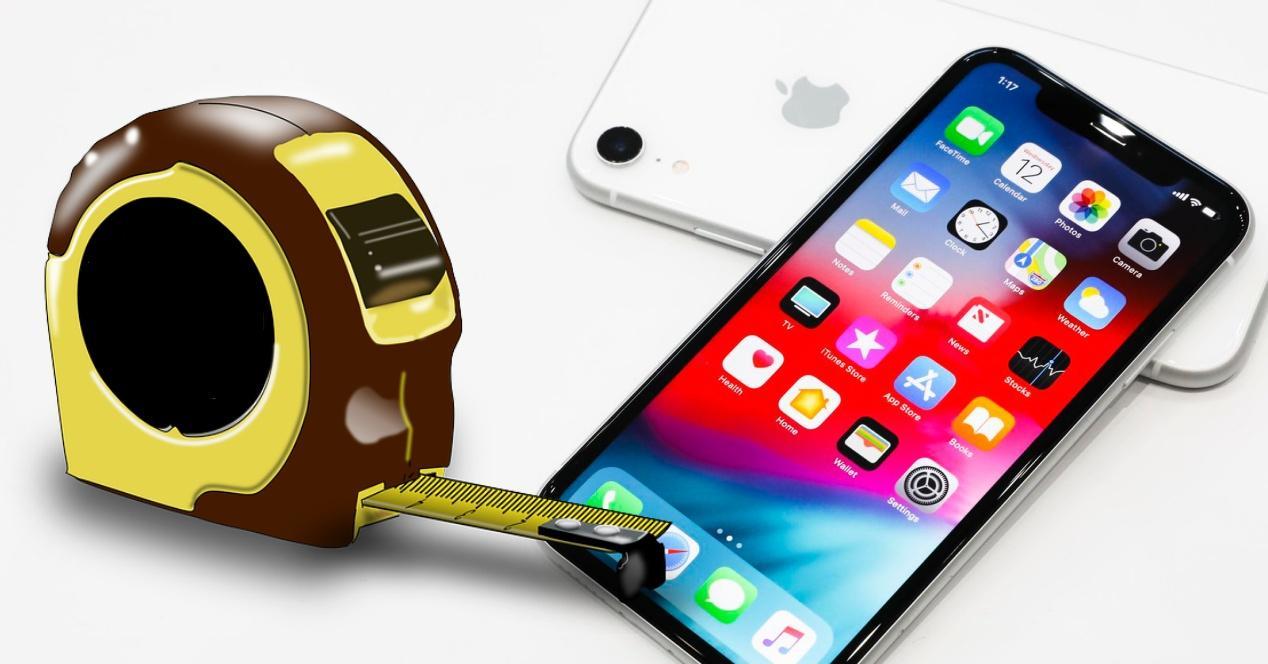 Medidas iPhone tamaños